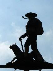 Denkmal für Neckarwanderer mit Hund?