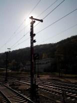 Flügelsignal im Bahnhof Horb