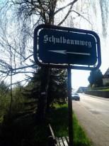 Schulbaumweg zur Baumschule?