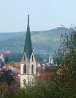 Vorschau auf die nächste Etappe: Wurmlinger Kapelle