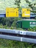 Neckarweg kreuzt Bundesstraße