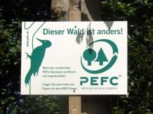 Zertifizierter Wald -- nur echt mit dem Specht.