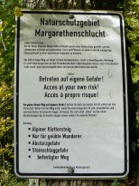 I survived the Margarethenschlucht