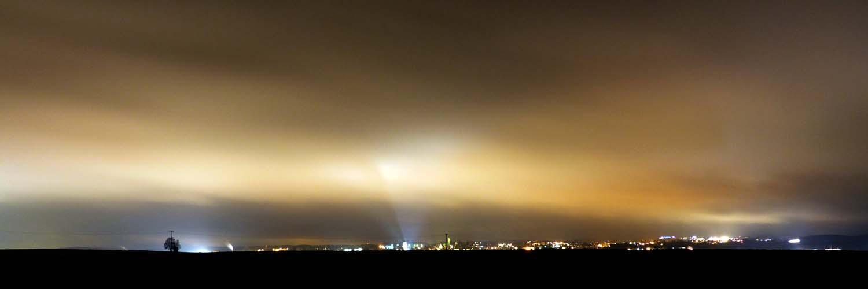 Rottweil-Panorama bei Nacht