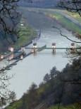 Staustufe Rockenau - flussabwärts