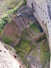 Burg Stolzeneck mit gewagtem Aufgang
