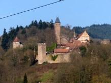 Ein Blick zurück auf Burg Hirschhorn