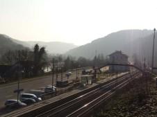 Letzendlich doch erreicht: Bahnhof Neckarhausen