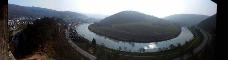 Neckarschleifenpanorama Neckarsteinach