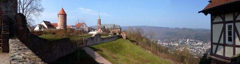 Dilsberg über dem Neckartal