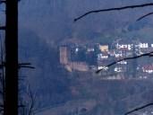 Blick zurück zur Neckarsteinacher Hinterburg