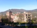 Hinterrücks näherten wir uns dem Heidelberger Schloss