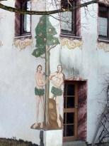 Gelungene Symbiose aus Graffiti und Bauernmalerei