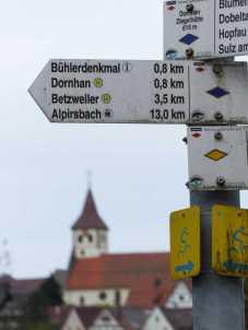 Blick von Dornhan-Ziegelhütte nach Dornhan-Downtown