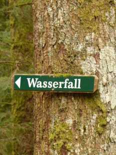 Gräbenbach-Wasserfall: Hier gehts lang