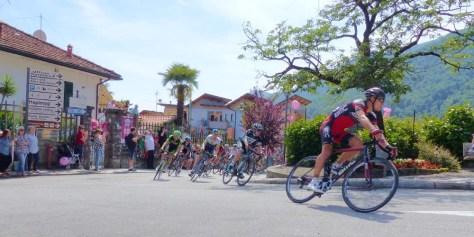 Spitzengruppe der 18. Etappe in Cannero