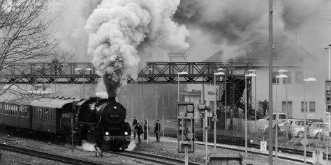 Bahnhof Balingen im Dampf