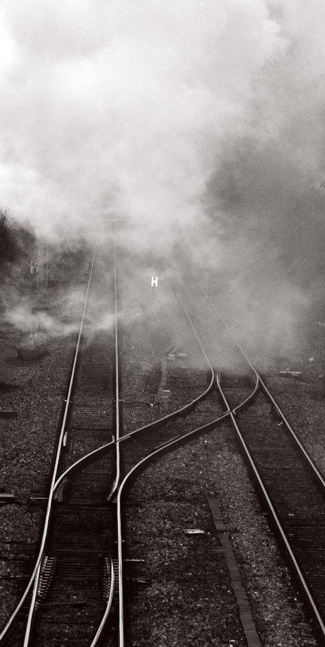 Dampfschwaden nach der Ausfahrt Richtung Endingen