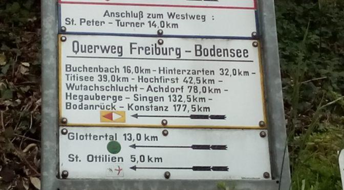 Schwarzwald-Querweg Tag 1: Freiburg — Buchenbach