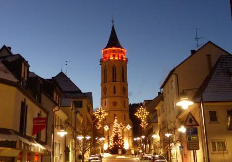 Stadtkirche Balingen als Leuchtturm