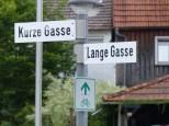 Gauselfinger Straßenbenenner sind nicht als übertrieben kreativ bekannt