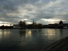 (Feier-) Abendstimmung auf der Rheinbrücke